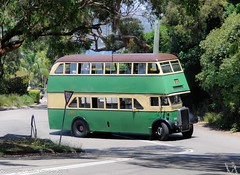 Sydney Buses - Restored MO 2761 turns from Battle Boulevarde into Edgecliffe Esplanade Seaforth (john cowper) Tags: vintage buses seaforth sydneytramwaymuseum sydneybusmuseum mo2761 mo2619 friends