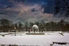 Winter Day In The Kadriorg Park (k009034) Tags: 500px winter baltic countries copy space estonia kadriorg tallinn tranquil scene architecture city clouds gazebo ice lake lamp post no people park sky snow town travel destinations trees teamcanon