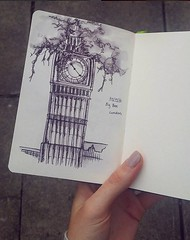 Big Ben (India's Illustrations) Tags: london sketchbook travel journal sketch drawing pen ink artist illustrator graphic design shoe fashion small book pad hand nails
