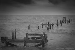Swanage pilings old pier. (John's taken it. PEACE.) Tags: swanage pilings pier oid sea cloudy