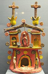 Mexican Pottery Church Nativity Scene (Teyacapan) Tags: metepec pottery mexican clay nacimiento folkart crafts