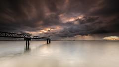 Heavy (marcolemos71) Tags: seascape water tagusriver oldpier pillars steel sky clouds rain sunrise longexposure leefilters leesw150 leend09h sobralinho minimalism alverca marcolemos