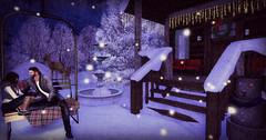 But Baby It's Cold Outside. (Alexis Nicoletti) Tags: chezmoifurniture chezmoi sanarae thechapterfour tcf secondlife decor outdoors cozy christmas snow blog