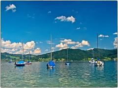 Attersee - Still ruhen die Segelboote