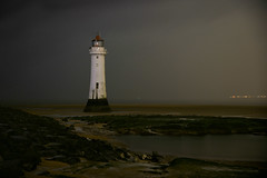 Perch Rock lighthouse (PentlandPirate of the North) Tags: perchrocklighthouse wirral merseyside liverpool newbrighton night