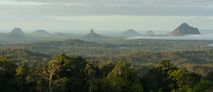 Glasshouse Mountains (NettyA) Tags: morning mist fog day cloudy australia lookout qld queensland glasshousemountains sunshinecoast maleny volcanicplug 2014 tibrogargan crookneck marycairncrosspark mtbeerwah sonynex6