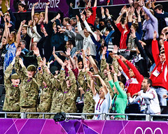 The wave engages the crowd at the 2012 London Olympics. (Gerald Lau) Tags: people london unitedkingdom olympics 2012