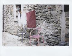 (Monica Forss) Tags: film analog polaroid chair croatia laundry instant istria groznjan fujiinstax200wide
