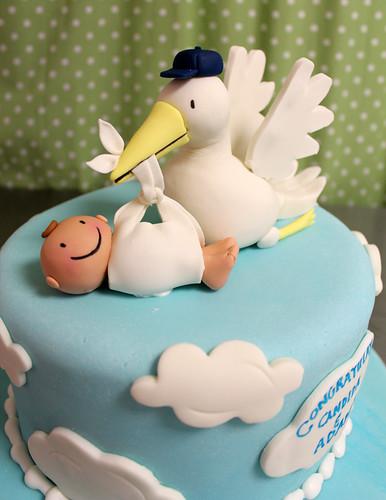 Stork Baby Figurine