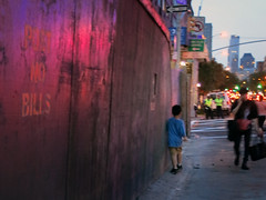 Some things are true almost everywhere (*CA*) Tags: nyc boy wall night westside gotham