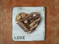 Love driftwood wall art (tropicaldebs) Tags: shells love heart rustic driftwood beachwedding coastaldecor