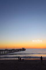 Glenelg Jetty Adelaide (Kelvin Wong (Away)) Tags: sunset sea sky beach water pier sand warm jetty australia adelaide glenelg ef1740mmf4l soutthaustralia