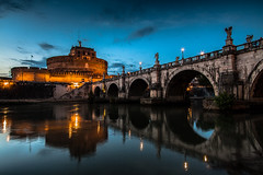 Mirror on the Tevere river (Ennio66) Tags: bridge italy rome roma reflection beautiful by night italia cupola dome tevere nightshots sanpietro notturna notte castelsantangelo lazio vaticancity blackandwite basilicadisanpietro pontesantangelo cittdelvaticano romabynight mausoleodiadriano