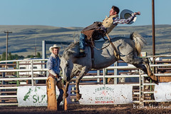 Classic Wyoming Pose (bflinch1) Tags: horses rain cowboys crazy nikon cowboy mud action arena dirt rodeo muddy laramie actionshot nikond3200 jubileedays gutsandglory albanycountyfairgrounds cowboyportrait laramierodeo
