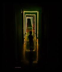 Alone in the Dark (Aviones Plateados) Tags: cameraphone barcelona park parque light luz silhouette mobile backlight dark amusement hall alone phone mirrors cell sala lg parc android tibidabo espejos funicular atracciones 2014 miralls obscuridad atraccions lamanoamiga miramiralls lgd505