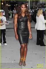 Black Venus - My passion (Jader Romani) Tags: newyorkcity usa newyork black leather dress lateshow letterman highheelsandals serenawilliams edsullivantheater