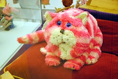 Bagpuss gave a big yawn.. (zawtowers) Tags: light history classic up television kids him one golden tv emily furry wake oliver bright sleep fat yawn archive exhibition we made peter bbc animation childrens characters salford cushion iconic loved bit lowry heres loose bagpuss firmin earlier seams postgate smallfilms catpuss