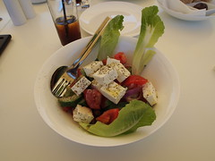 When in Greece, eat Greek salad!