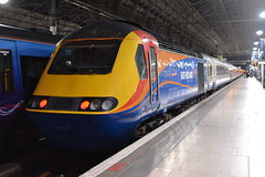 East Midlands Trains HST 43061 (Will Swain) Tags: uk travel england london station st speed train manchester high britain transport rail railway piccadilly august trains east greater 16th pancras midlands hst 2014 1735 43061 1z21