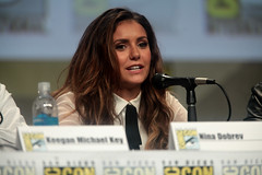 Nina Dobrev (Gage Skidmore) Tags: california michael san key comic cops lets diego center rob convention be keegan nina damon con 2014 wayans riggle dobrev
