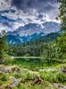 Mountain lake (mnielsen9000) Tags: hdr eibsee mountainrange wetterstein d600 nikon2470