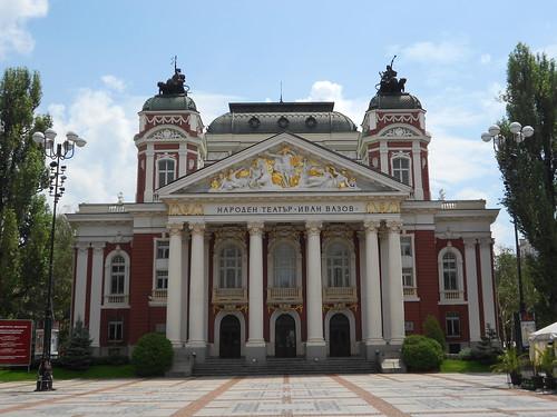 national theatre, Ivan Vazov, Sofia