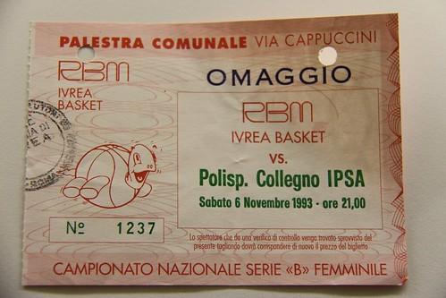 Biglietto omaggio serie B Femminile - Ivrea Basket vs. Collegno Basket