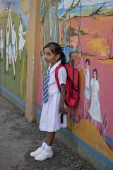 SL161 Colombo 11 - Sri Lanka (VesperTokyo) Tags: girl srilanka ceylon schoolgirl blackhair colombo schooluniform whitedress darkeyes 小学生 女の子 スリランカ コロンボ セイロン