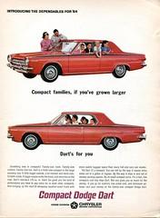 1964 Chrysler Dodge Dart Advertisement Newsweek October 21 1963 (SenseiAlan) Tags: october 21 advertisement dodge chrysler newsweek dart 1964 1963