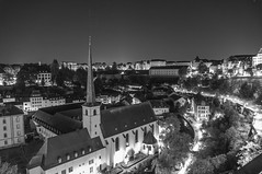 Luxembourg by b/w night (Markos Giannopoulos) Tags: city light sky urban blackandwhite architecture night cityscape shadows 5 luxembourg giannopoulos sonynex5r markosgiannopoulos