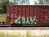 Ates (quiet-silence) Tags: railroad art train graffiti railcar boxcar graff kts freight bnsf ates fr8 bnsf761648