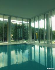 Calmness (Iceman_Mark) Tags: summer alps water pool swimming reflections switzerland engadin stmoritz schwimmbad graubünden hallenbad