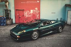JAGUAR XJ220 (Marcel Lech) Tags: auto canada green classic night vancouver photography marcel interior side group icon front jaguar legend sr lech xj220