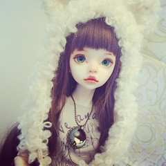 #faceup by #bittersweetenmi  #bjd #dim #larina #dollinmind #doll #costum #artdoll #dolls #wig #clothing #handmade #jewellery #sew #pidsweetarray #cap #hat (Lillie Pid) Tags: cute hat cat doll sew jewellery cap bjd knitted artdoll dim larina faceup dollinmind instagramapp uploaded:by=instagram pidsweetarray