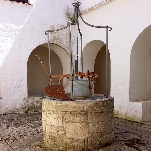 Un antico pozzo nel chiostro della #Chiesa di Sant'Antonio a #Bovino!