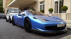 Ferrari 458 Hamann Front (S Cansfield) Tags: blue london car lumix hotel italian italia ferrari knightsbridge panasonic arab modified supercar motorsport hamann 458 gx1