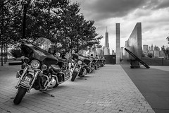 Jersey City Police (Jason Gambone) Tags: world new york city white black never memorial 911 police motorcycles center run september jersey motorcycle 11th trade forget