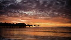 Glow & Silhouette (RTA Photography) Tags: sea sky orange silhouette sunrise pier glow devon paignton torbay
