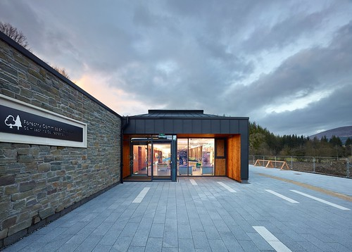 Kirroughtree Visitor Centre, Galloway Forest Park by jmarchitects