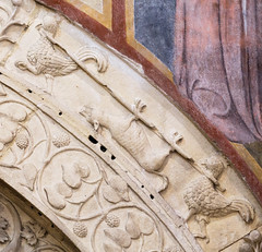 Basilica of San Zeno, Verona, Italy (stshank) Tags: basilicaofsanzeno italy verona architecture bird chicken fox travel