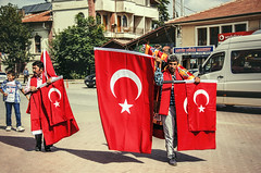 Patriots (Melissa Maples) Tags: red summer men turkey nikon asia flag türkiye nikkor turkishflag turks vr afs 尼康 18200mm 土耳其 f3556g ニコン beyşehir 18200mmf3556g d5100