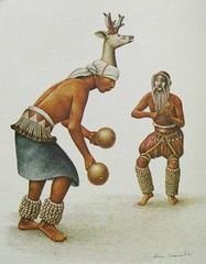 Yaqui Dancers Mexico (Teyacapan) Tags: art mexico dancers paintings deer mexican danzantes venado covarrubias yaqui