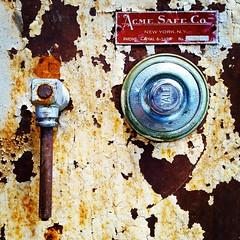 Acme Safe (Joe Shlabotnik) Tags: cameraphone acme rusty safe yale 2014 wstc instagram galaxys5 august2014