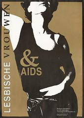 1984 lesbische vrouwen & aids (LANijmegen) Tags: 1984 coc nijmegen rozegeschiedenis glbt gezondheid hivaids affiche poster lhbti