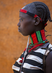 Hamer Tribe Girl In Traditional Outfit, Dimeka, Omo Valley, Ethiopia (Eric Lafforgue) Tags: africa portrait people haircut childhood vertical hair outdoors photography necklace kid women day child african jewelry tribal ornament longneck blackpeople bead omovalley braids tradition ethiopia tribe ethnic hairstyle anthropology hamar oneperson developingcountry braid hamer braided hammar hornofafrica ethnology ethiopian eastafrica traditionalclothing realpeople beadednecklace onewomanonly colorpicture oneyoungwomanonly redochre dimeka turmi africanethnicity 1people indigenousculture africanculture onlywomen southernethiopia southethiopia truepeople colourpicture omorivervalley hairness oneteenageronly hamerbenaworeda ethiopianethnicity oneyoungadultonly ethio1402541