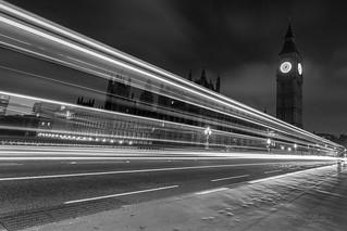 London by night monochrome