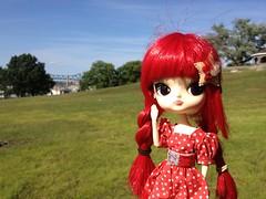 Clara Waving (esmereldes) Tags: clara doll picnic dolls dal uploaded:by=flickrmobile flickriosapp:filter=nofilter