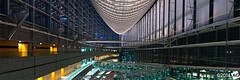 A S p a c e O d d i t y (AnthonyGinmanPhotography) Tags: panorama building japan tokyo nightlights forum olympus nightphoto atnight olympus1454mmf28 tokyointernationalforumbuilding olympuse30