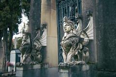 Esfinges (Juanedc) Tags: sculpture españa statue spain cementerio escultura egyptian alava estatua basque euskadi basquecountry paisvasco vitoria gasteiz cementery vitoriagasteiz paísvasco vascos egipcio camposanto