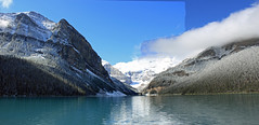 Lake Louise Panorama (JB by the Sea) Tags: panorama canada rockies alberta banff rockymountains lakelouise banffnationalpark canadianrockies panoramicview september2014